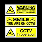 CCTV Security Camera Plastic Sign, Sticker - All Materials - Choose Your Design