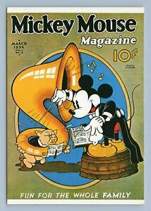 "Vtg Mickey Mouse Magazine Cover Art Disney Postcard 4x6"" Mickey Conductor Tuba"