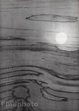 1955 Vintage Heinz Hajek-Halke Surreal Abstract Sunset Wood Original Photo Art