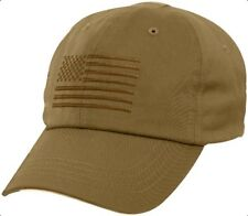 Coyote Brown USA Flag Ball Cap US Army USMC Navy SEAL USAF Tactical Operator Hat