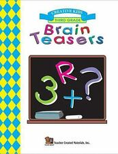 Brain Teasers, Grade 3 puzzles (1997, Paperback) logic & reasoning, math book
