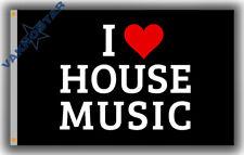 New listing I love House Music Memorable flag 90x150cm 3x5ft Club music best banner & Flag