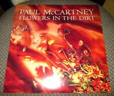 """PAUL MCCARTNEY FLOWERS IN THE DIRT 12"""" PROMOTIONAL FLAT PROMO POSTER THE BEATLES"""