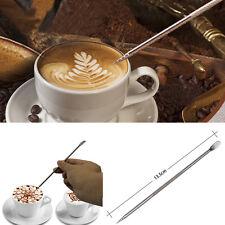 New Coffee Latte Stainless Steel Art Pen Tool Espresso Machine Cafe Kitchen