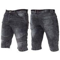 New Mens ENZO Jeans Designer Branded Denim Spring Summer Shorts Waist Size 28-48