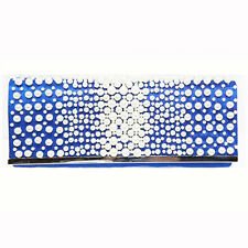 NEW STUNNING COBALT BLUE PEARL BAR PURSE CLUTCH HANDBAG