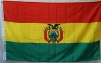 3x5 Embroidered Sewn Bolivia with Crest 300D Nylon Flag 3'x5' Banner