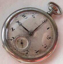 case 46 mm in diameter load manual Movado pocket watch Open Face nickel chromiun