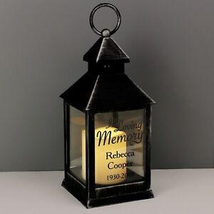 Personalised Black Lantern Memorial  Ornament Remembrance Gift