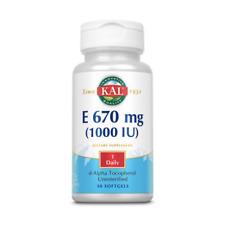 KAL E-1000 d-Alpha Tocopherol | 1000iu 30ct