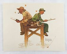Vintage 1970's Norman Rockwell Lazy Days Embossed Print Old Timers Series