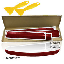5PCS Matte Red Sticker Car Door Sill Cover Threshold Rear Bumper Lip Protector