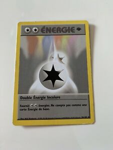 Carte Pokémon Double Énergie Incolore 96/102 Set de Base Édition 1 FR
