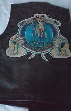 NOS Vintage Men's Avirex Solid Brown Leather Vest w/Side Lacing - Size L
