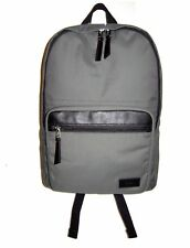 Fossil Evan Grey & Black Canvas,Leather Trim Backpack NWT