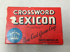 VINTAGE CROSSWORD LEXICON CARD GAME- COMPLETE WITH INSTRUCTIONS