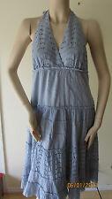 $250 NWT BCBG DAY HALTER EYELET DRESS SIZE M