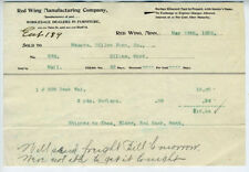 1895 Billhead Red Wing Minnesota Manufacturing Company