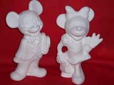 Ceramic Bisque Ready to Paint Mickey Mouse and Minnie Mouse