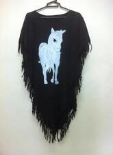 Bleach Women's Poncho Dress UNICORN Horse Boho Tunic Top Shirt Tassels Blouse