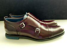 New Men's Louis Vuitton Artwork Buckle Shoes Double Monk Strap Bordeaux $855