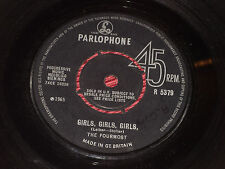 "The Fourmost:  Girls Girls Girls   1965   7""   Parlophone"