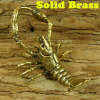 Brass Lobster Figurines Prawn Statue Animal Figurines Home Office Ornament