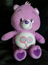 "Original Purple Carebear - Share Bear - Lollipops Approx 12"" VGC"