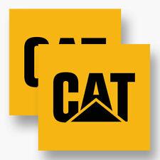 2X CAT DECAL STICKER 3M USA MADE VEHICLE WINDOW CAR TRUCK TRACTOR EQUIPMENT