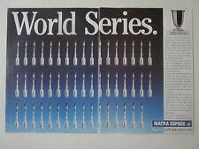 6/1989 PUB 4 PAGES MATRA ESPACE ESA ARIANE IV SATELLITE SPOT SPACE ORIGINAL AD