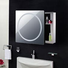Modern Wall Mounted Mirror LED Light Illuminated Bathroom Bath Storage Cabinet