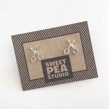 - Great Earring Jewellery Gift! Pretty Silver Scissors Scissor Stud Earrings