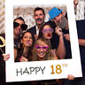 18/30/40/50/60th Anniversary Happy Birthday Party Paper Frame Photo Props HOT
