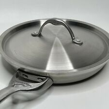 """New listing Calphalon 1390 10"""" Skillet Fry Pan Stainless Steel With Lid"""
