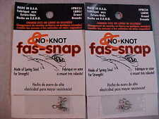 10 NEW NO KNOT FAS SNAP LARGE SNAPS QUICK CHANGE LURES JIGS HOOKS  FLYS