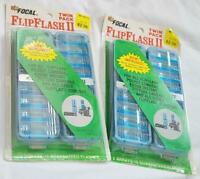 2 Vintage 1970s Twin Packs Focal FlipFlash II Bulbs 32 Total Flashes