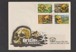 Kenya 1982 Origins of Mankind FDC & insert per scan .. slight tone spots edges