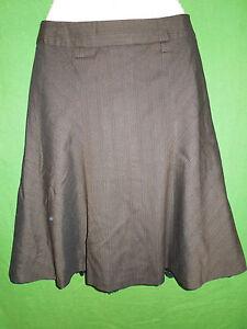 Zara  size 4  women brown lined A line below knee skirt