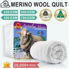 Aus Made 100% Merino Down Wool Quilt Duvet Doona Blanket Summer/Winter All Size
