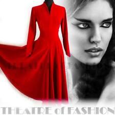Vestito velluto rosso DROOPY   Browns vintage wedding 40s 50s SIRENA  Vampiro Vittoriano de6b33db023
