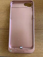 Cargador de batería de alimentación externa iPhone 7 oro rosa caso de carga