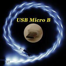 LifeShift Ladekabel für USB Micro B LED Soft-Light weiss fliessend leuchtend 1m