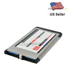 PCI Express Card to USB 3.0 2 Port Adapter 34 mm Converter