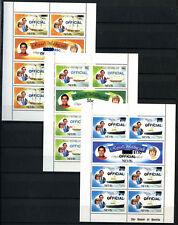 Nevis 1981, 1983 SG#O23-O28 Royal Wedding Officials MNH Sheetlets Set #D54570