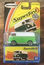 Matchbox Superfast White/Green VW Transporter NEW Limited Edition 1:64 Scale