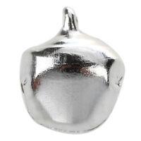 20 Stueck 10 mm Weihnachten Kleine Glocke - Silber Ton P5Z3 C0O8