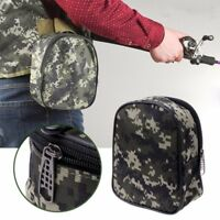 Camouflage Padded Fishing Reel Cover Mini Pocket Bag Fishing Tackle Pouch Case