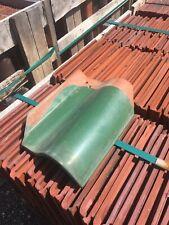 5 Pcs Of Ludowici Glazed Green Tile (13 1/4 Inch) Reclaimed