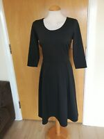 Ladies TU Dress Size 10 Black Fit And Flare Smart Casual Day Party