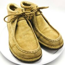 Wolverine Chukka Moc Toe Suede Leather Shoe Boots Men's 11 Beige Wheat Lace Up